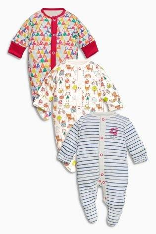 UK Next - Babygro Girls - Scribble Cats - 1pk - 9-12mts