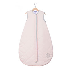 (60) Save Our Sleep, Safe Baby Sleep Bag 'Pink with Silver Binding' Travel 1 TOG 2-3 1/2 yrs