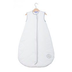 (17)On Sale - Save Our Sleep, Safe Baby Sleep Bag 'White with Silver Binding' Travel 1 TOG 2-3 1/2 years
