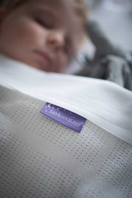 Save Our Sleep Cot Cellular Blanket (50% Organic*)- White
