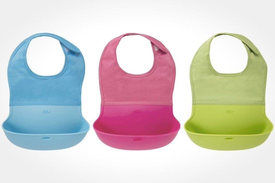 Oxo Tot Roll-Up Bib - Pink (5)
