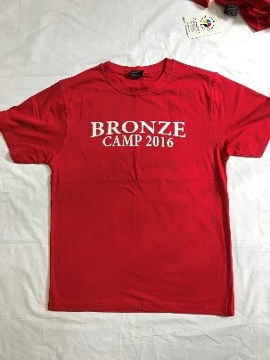 Red 2016 Bronze Camp T-Shirt  - Adult