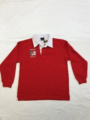 Red Rugby Jumper with Embroidery Logo