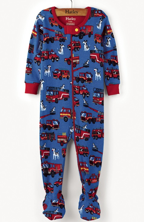 Hatley Babygro w feet - Fire Trucks