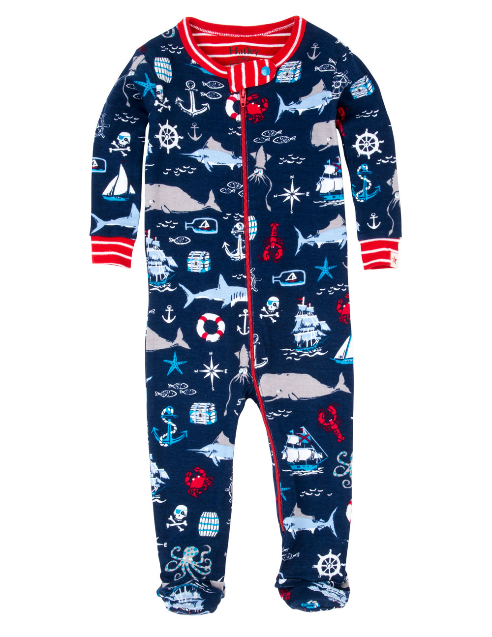 Hatley Babygro w feet - Vintage Nautical