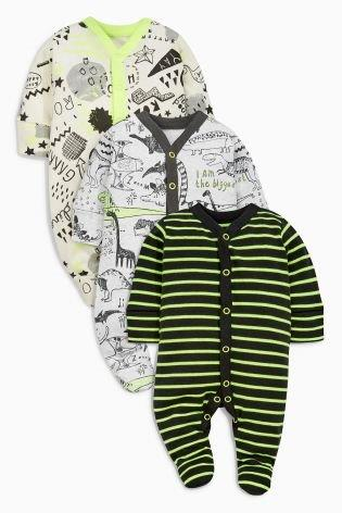 UK Next - Babygro Boys - Fluro Dinosaurs - 1pk