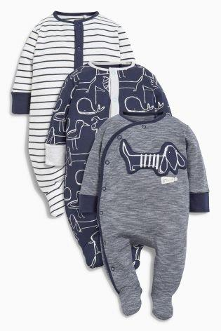 UK Next - Babygro Boys - Navy/White - 1pk