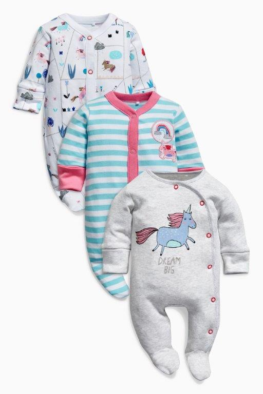 UK Next - Babygro Girls - Unicorn - 1pk