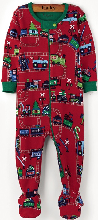 Hatley Babygro w feet - Magical Christmas Train