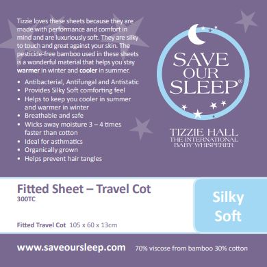 Save Our Sleep Travel Cot Fitted Sheet