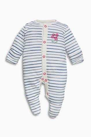 UK Next - Babygro Girls - Scribble Cats Stipes - 1pk - 9-12mts (1)