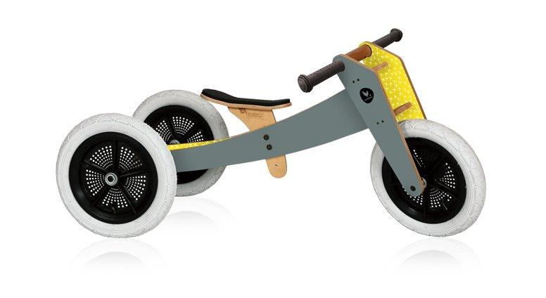 Wishbone 3-in-1 Balance Bike - Grey