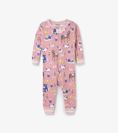 Hatley Babygro - Farm Friends - Footless