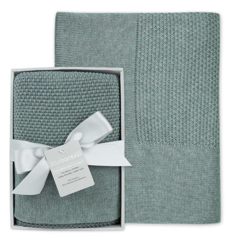 Little Bamboo Textured Blanket - Whisper