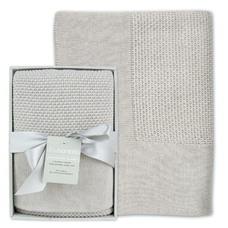 Pre-order - Little Bamboo Textured Blanket - Silver