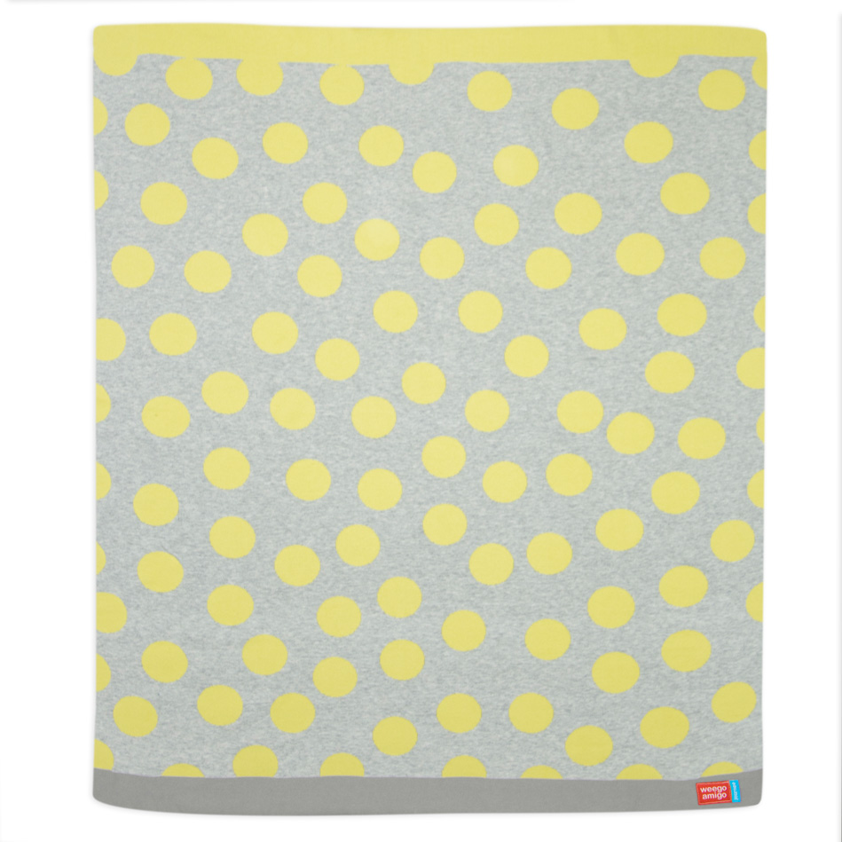 Weegoamigo - Journee Cotton Knit Blanket - Morgan Yellow