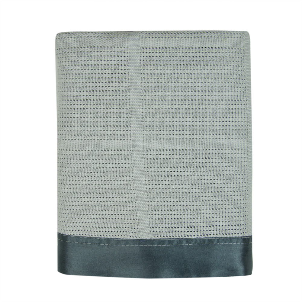 Weegoamigo - Cellular Blanket Cotton/Bamboo - Pebble Grey
