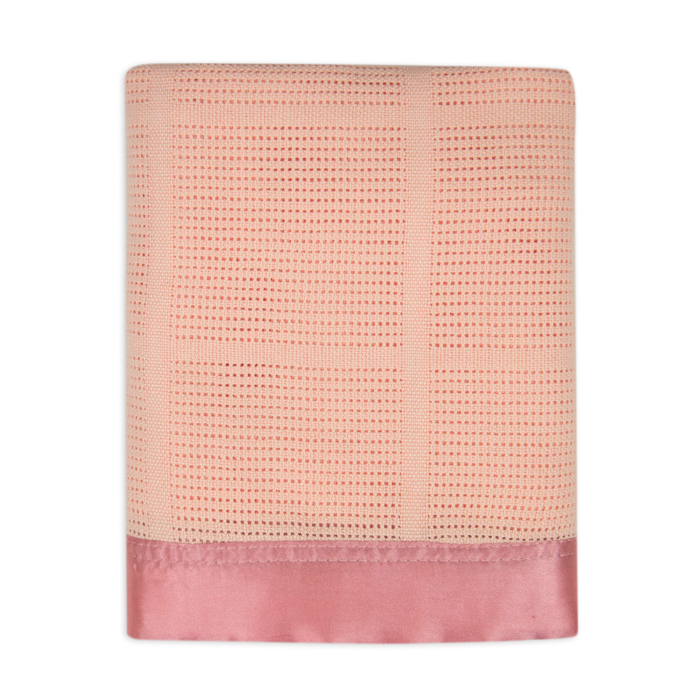 Weegoamigo - Cellular Blanket Cotton/Bamboo - Peach