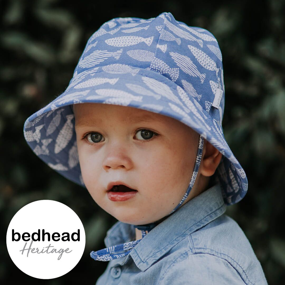 Heritage - Bedhead - Toddler Bucket Hat - 'Fish' Print