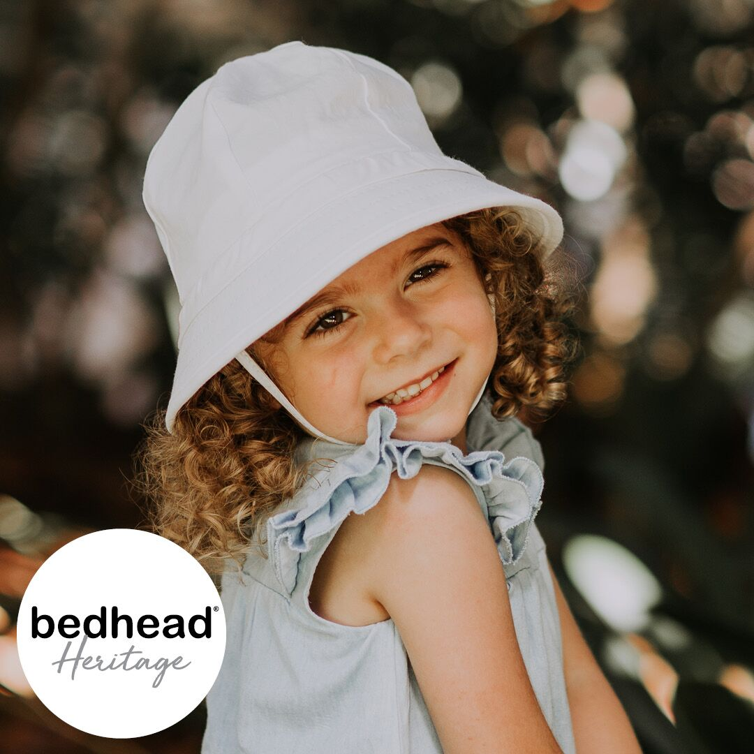 Heritage - Bedhead - Toddler Ruffle Bucket Hat - 'White'