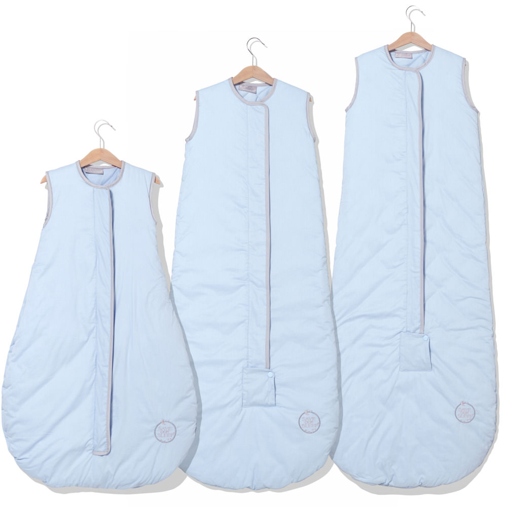Save Our Sleep, Safe Baby Sleep Bag 'Blue with Platinum Binding' 0.5 TOG, 1 TOG or 2.5 TOG