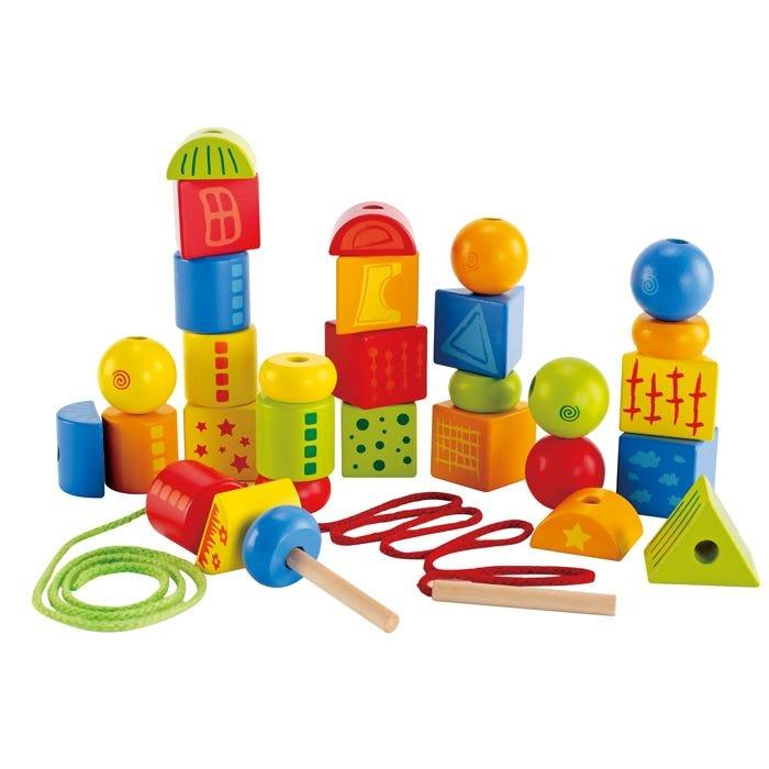 Hape - String-Along Shapes - 32 piece