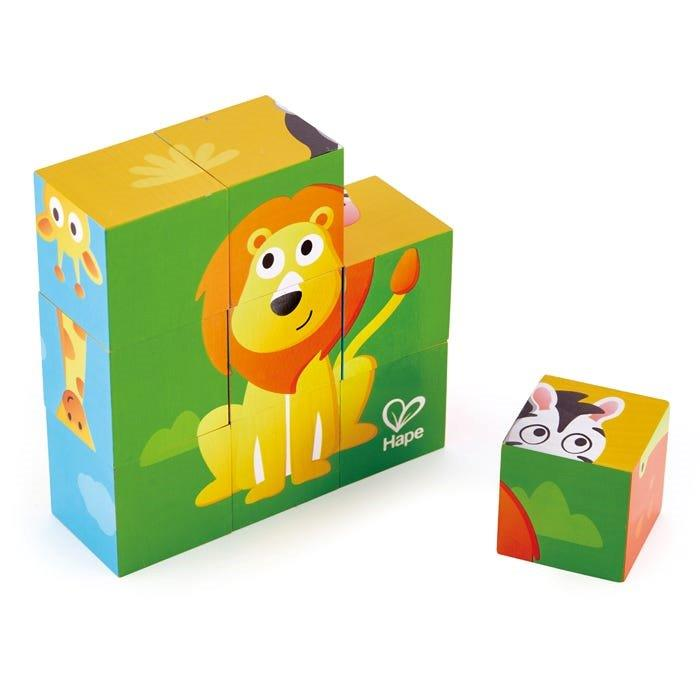 Hape - Jungle - 9 piece Block Puzzle