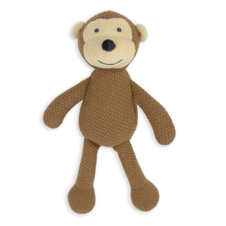 Little Linen - Pearl Knit Toy - Monkey (HUB)