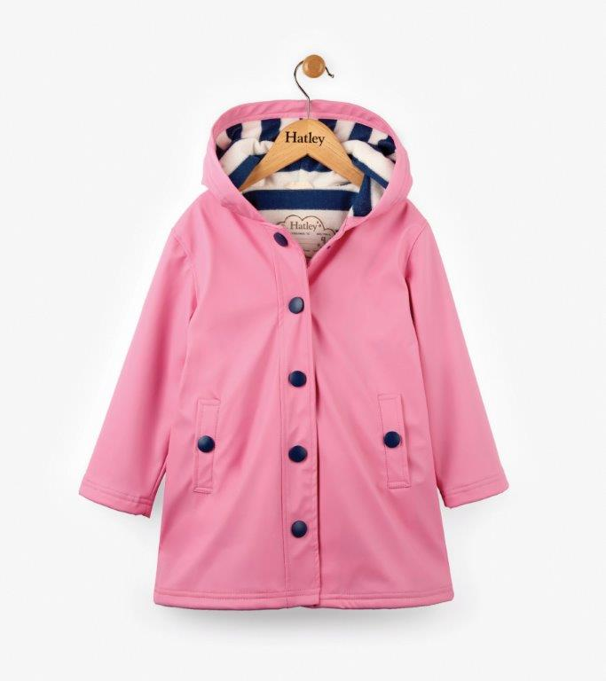 Hatley - Splash Raincoat - Pink & Navy