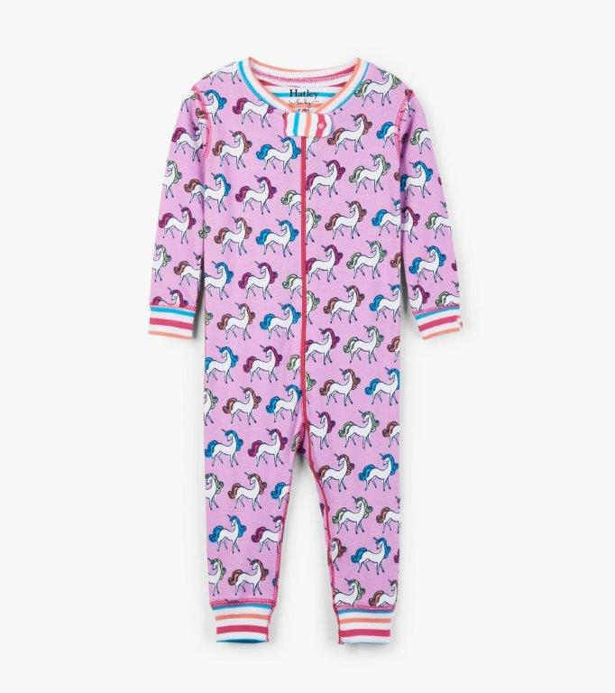 Hatley Organic Babygro Footless - Rainbow Unicorn
