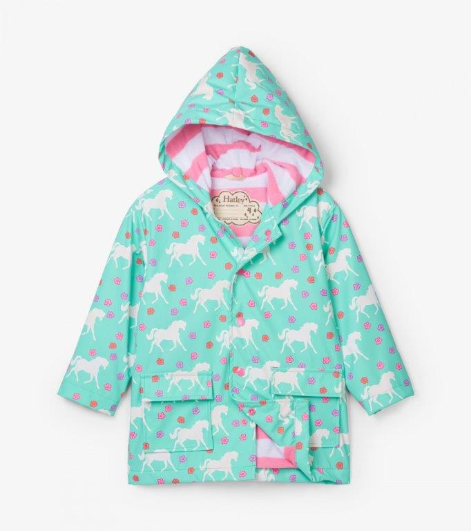 Hatley - Splash Raincoat - Colour Changing Galloping Horses