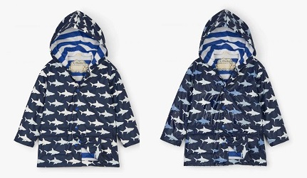 Hatley - Splash Raincoat - Colour Changing Shark Frenzy