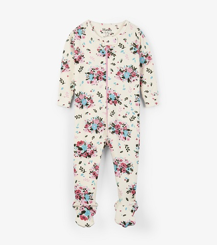 Hatley Babygro Footed -Floral Hedgehogs