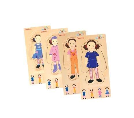 Discoveroo - Play Schools - Dress Up Jemima Layer Puzzle