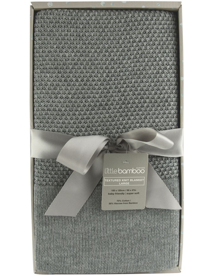 Little Bamboo Large Textured Blanket - Marl Grey