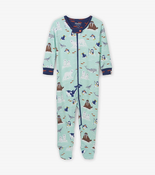 Hatley Organic Babygro Footed - Arctic Friends
