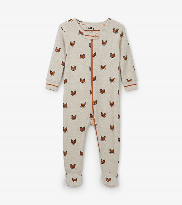 Hatley Babygro Footed - Clever Fox