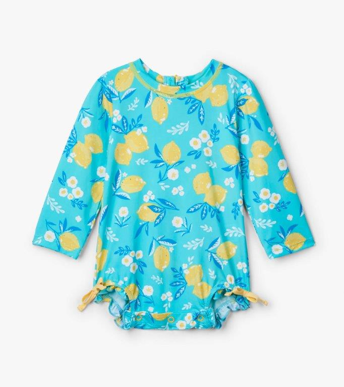 Hatley Rashguard One-Piece - Cute Lemons - 3-6mths