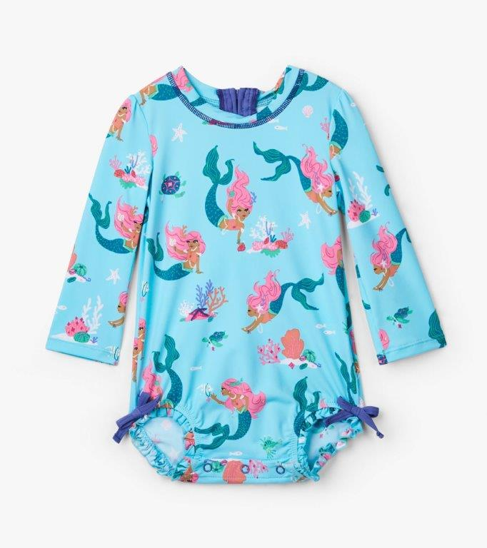 Hatley Rashguard One-Piece - Mermaid Tales - 3-6mths