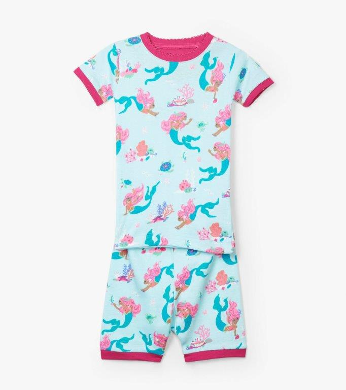 Hatley Organic Short PJs - Mermaid Tales