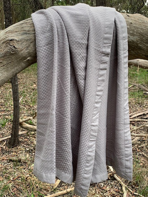 Save Our Sleep Cot Bamboo Heirloom Blanket - (*95% Organic Bamboo) - Silver - Grey