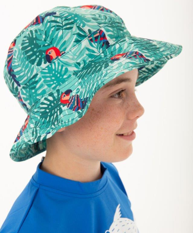 Babes in the Shade - Boys Hat - Parrot