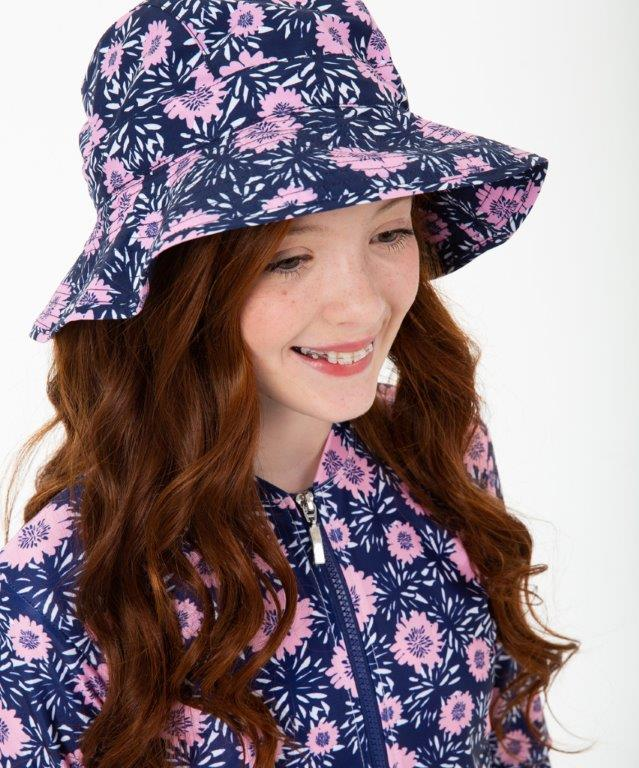 Babes in the Shade - Girls Hat- Pink Daisy