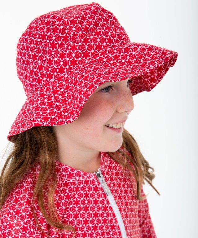 Babes in the Shade - Girls Hat- Pinwheel Red