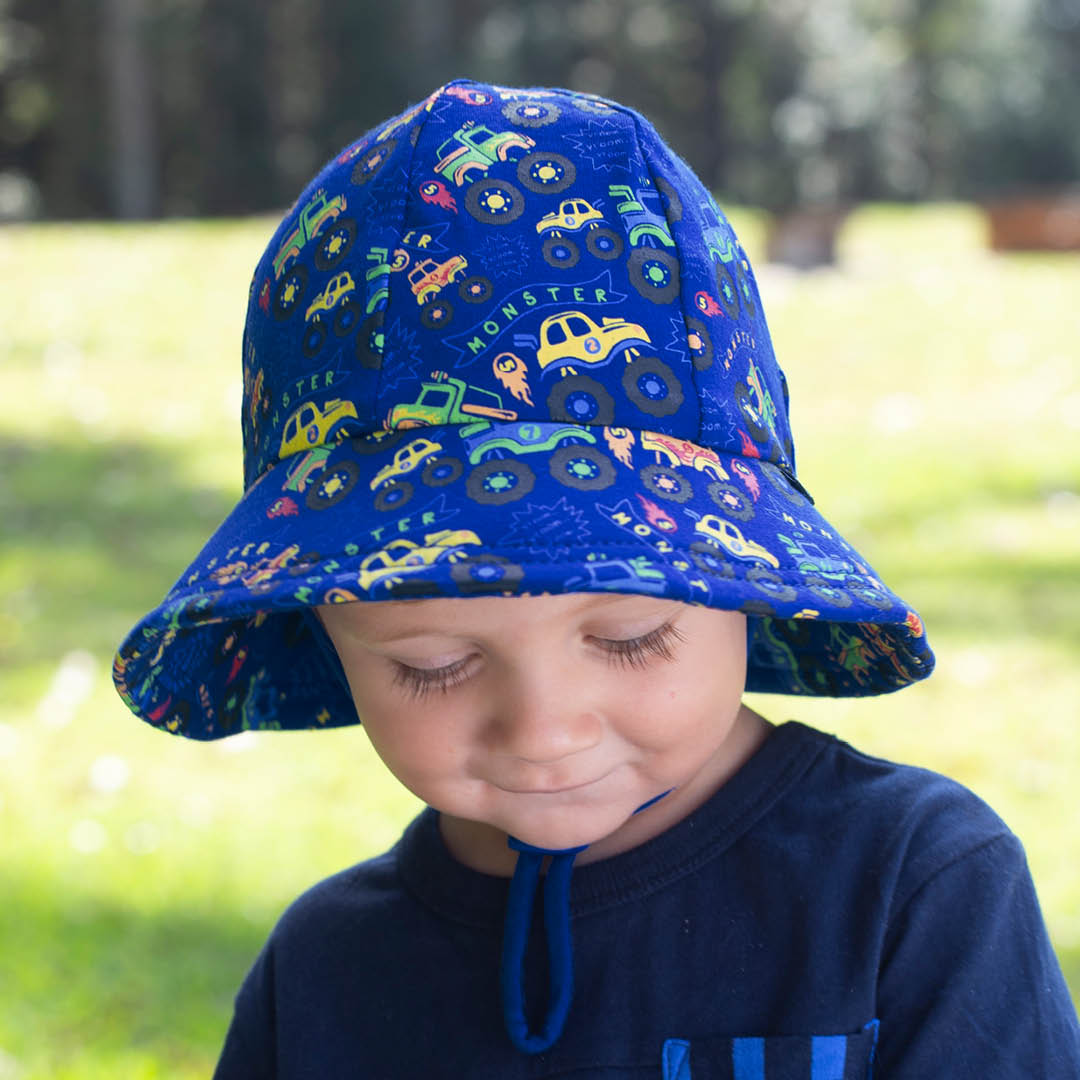 Bedhead - Toddler Bucket Hat - 'Monster Truck' Print