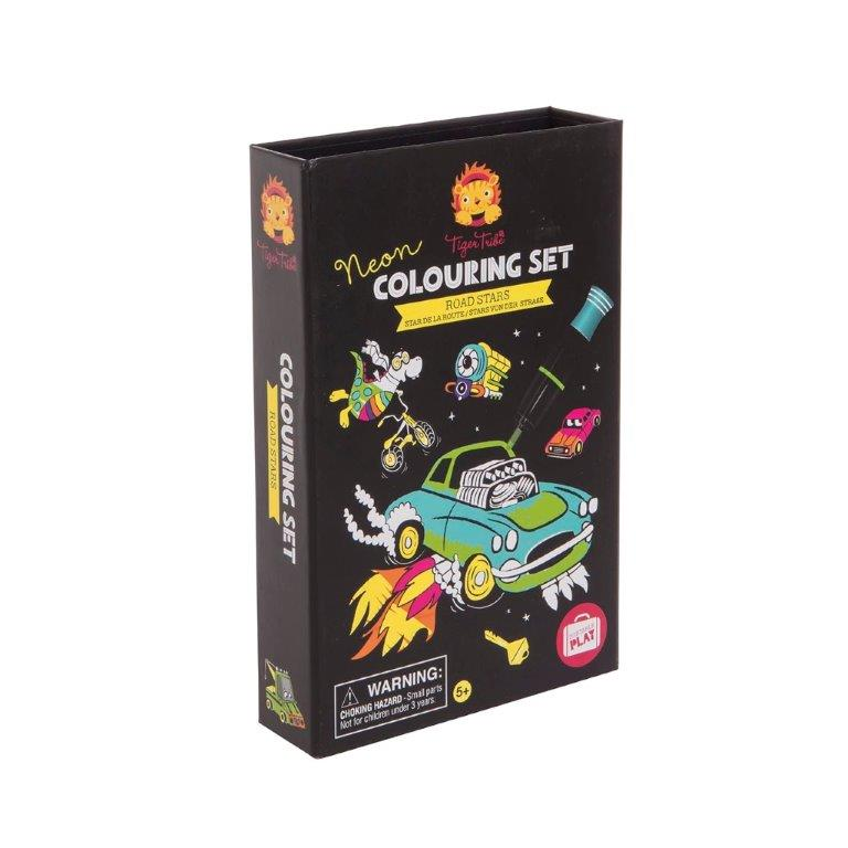 Tiger Tribe - Neon Colouring Set - Road Stars