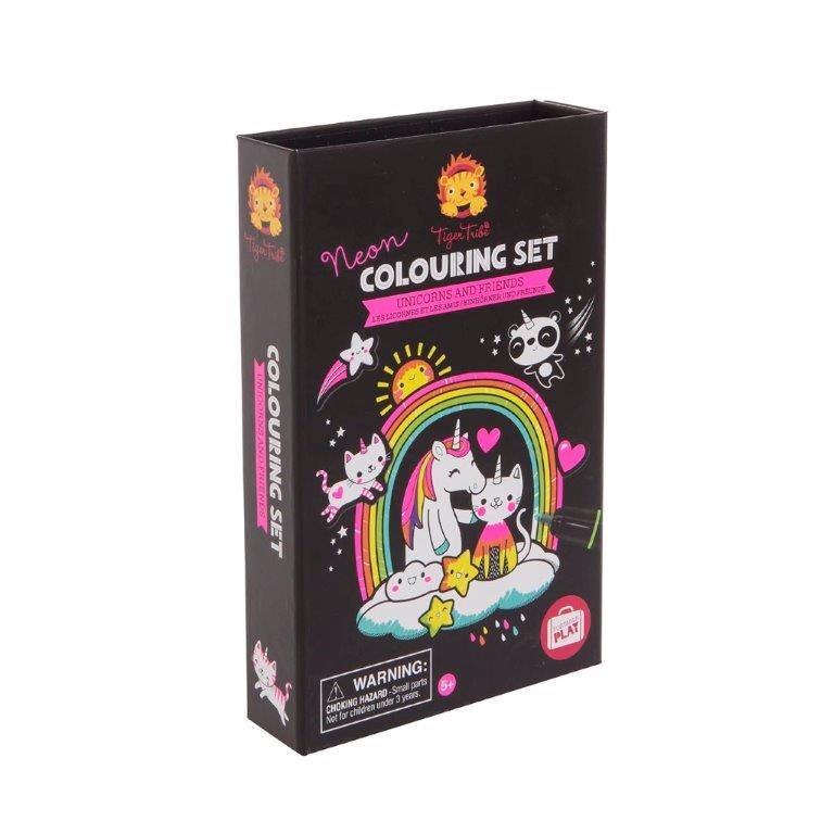 Tiger Tribe - Neon Colouring Set - Unicorns and Friends