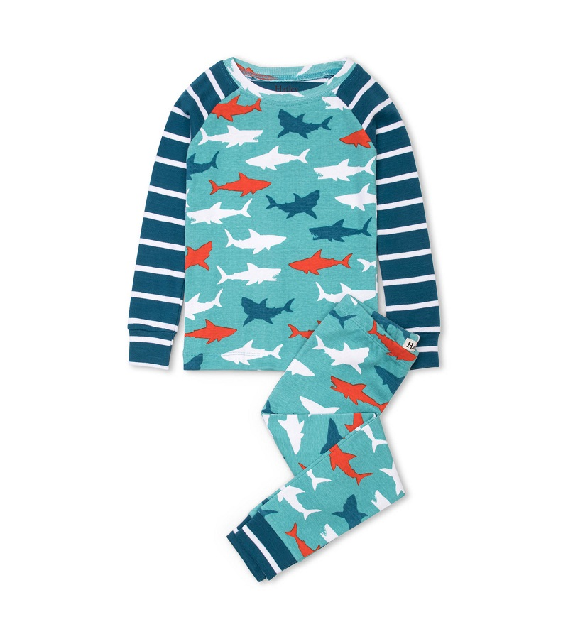 Hatley Organic PJs -  Great White Sharks