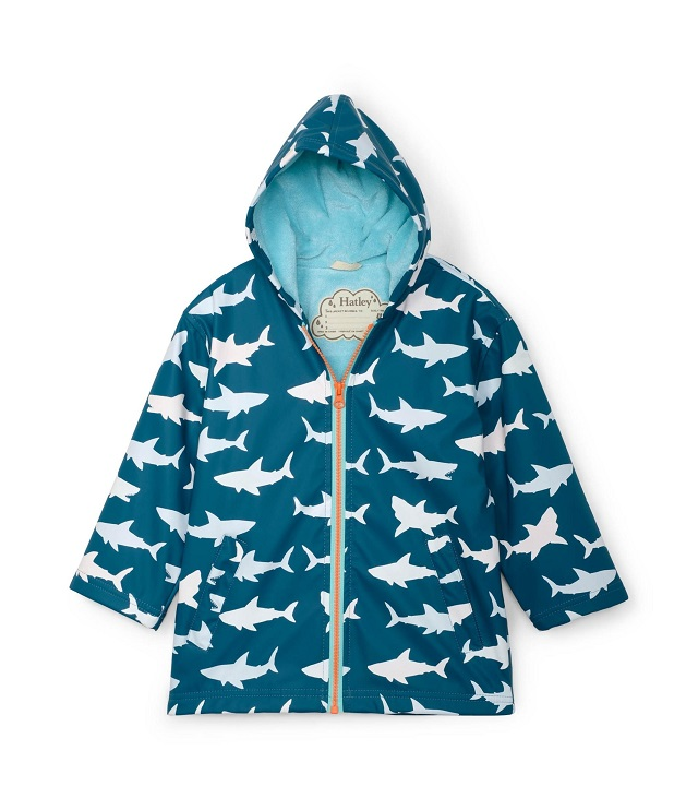 Hatley - Colour Changing Splash Jacket - Great White Sharks