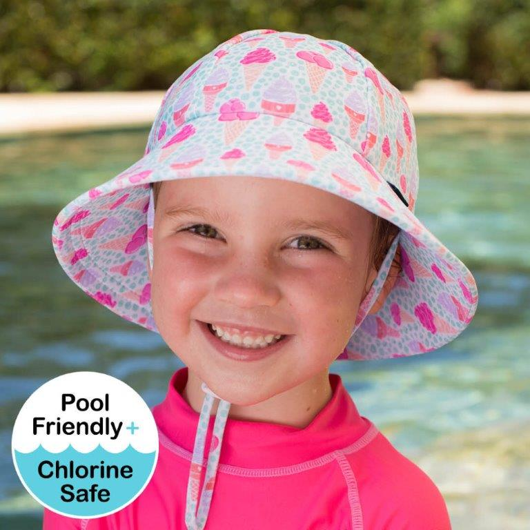 Bedhead - Bucket Ponytail Swim Hat UPF50+ -Ice Cream